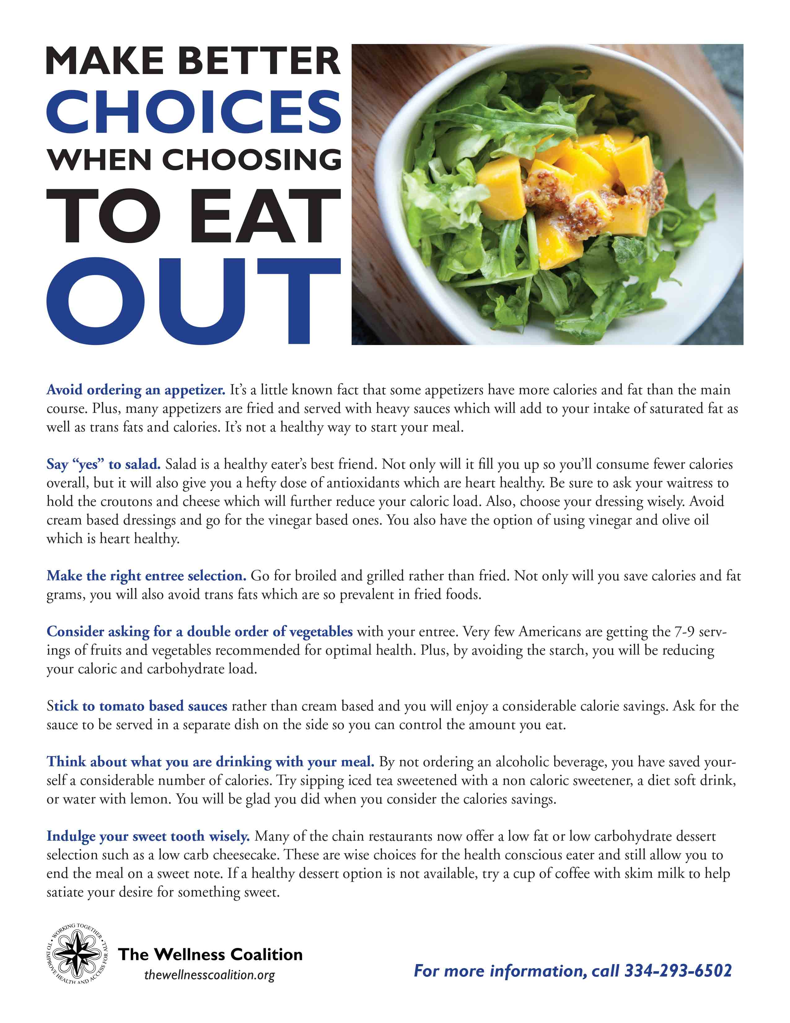 Make Better Choices When Choosing to Eat Out