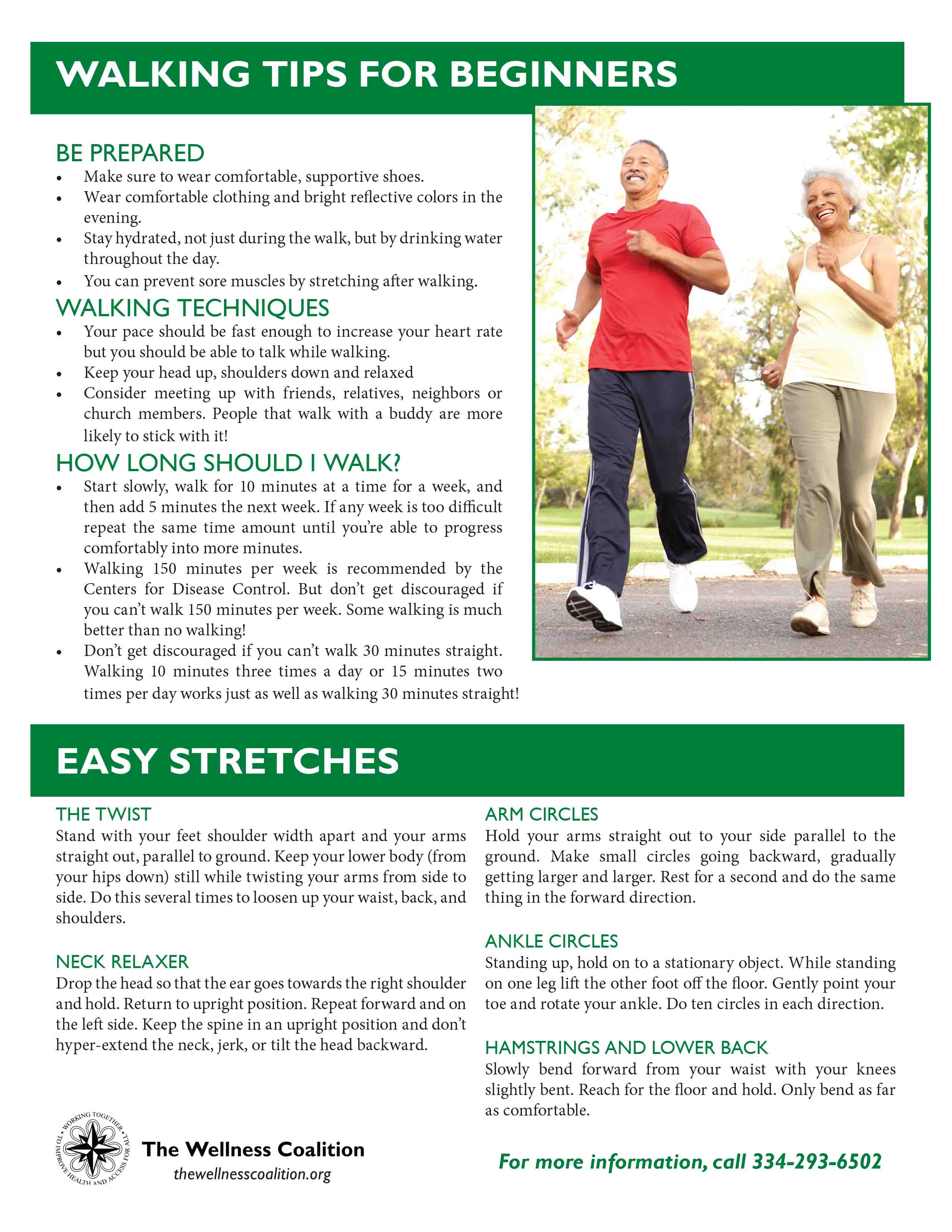 Walking Tips for Beginners and Easy Stretches