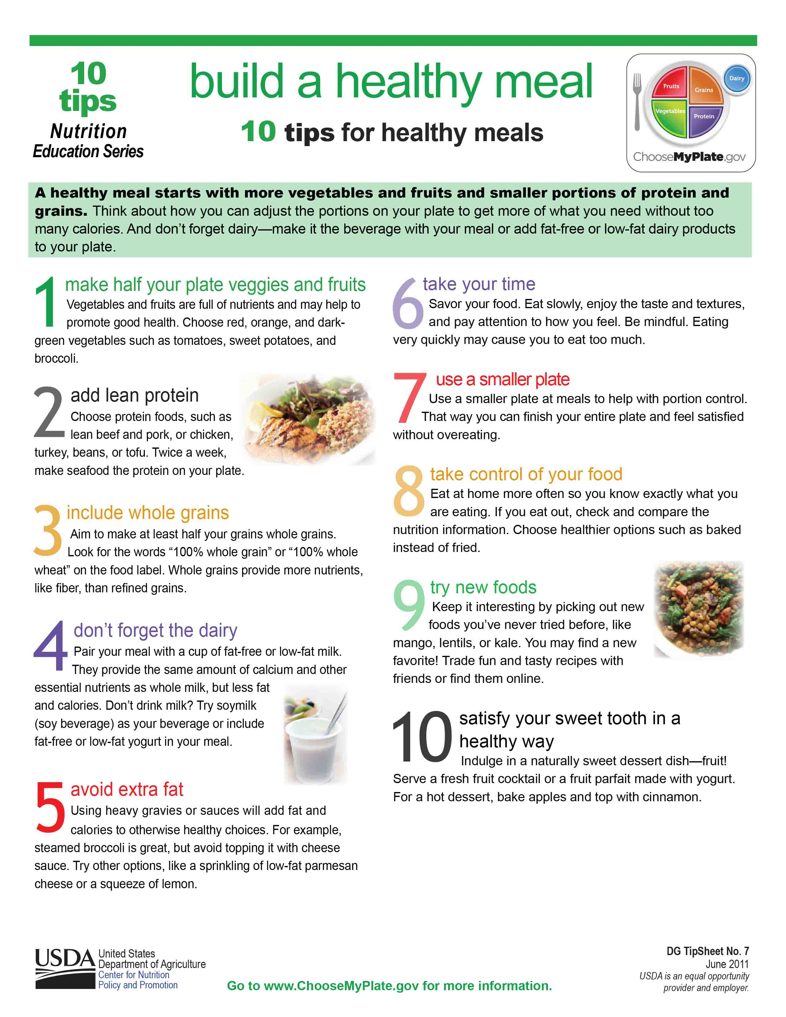 10 tips to building a healthy meal