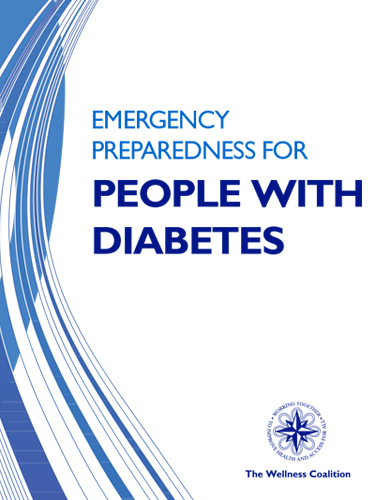 flyer for Emergency Preparedness guide for people with diabetes